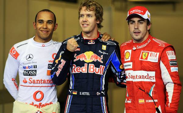 Hamilton Vettel and Alonso