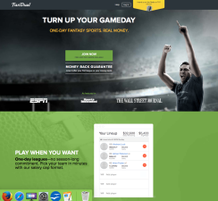 FanDuel Homepage Screen