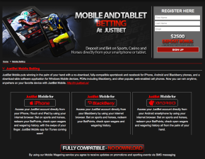 JustBet.cx Mobile
